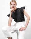 Embroidered Placket Top