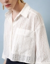 Embroidery Crop Shirt