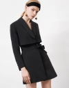 Long Sleeve Belted Trench Dress
