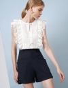 Broderie Anglaise Ruffle Blouse