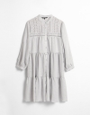 Long Sleeves Shirt Dress With Embroidery