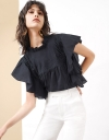 Pleated Boxy Top