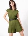 Utility Romper With Cap Sleeve