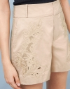 Embroidered Utility Shorts