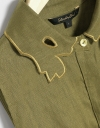 Shirt Dress With Embroidered Collar