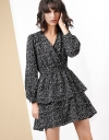 Long Sleeve Wrap Tier Dress