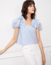 Puff Blouse with Ribbons