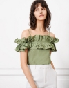 Shirred Ruffles Top