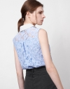Guipure Lace Top with Embroidered Collar