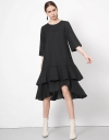Long Sleeve Convertible Flare A-line Dress