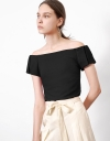 Off Shoulder Top with Pleats
