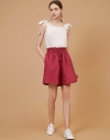 Tied Gather Flare Shorts