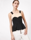Pleated Contrast Top