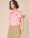 Bow Detail Striped Top