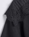 Shoulder Lace Overlay Top