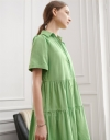 Tunic Shirt Dress with Tier Detail