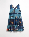 Tier Dress with Placement Print