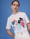 T-shirt with Art Floral Print
