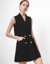 Wrap Buttoned Romper with Patch Pockets