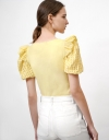 Top with Texture Sleeves