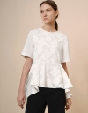 Boxy Top with Embossing Panel