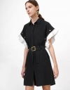 Convertible Dress with Contrast Sleeves