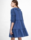 Dress with Lace Collar & Sleeves