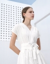 Boxy Flare Dress in Textured Finish