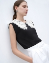 Top with Lace Collar