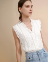 Lace Shirt with Fil Coupé Fabric