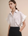 Convertible Shirt with Contrast Sleeves