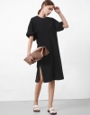 Dolman Sleeve Dress with Ruch Back