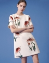 Floral Print Shift Dress with Short Sleeves