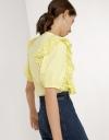 Puff Sleeve Top with Ruffle Detail