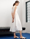 V-Neck Wrap Maxi Dress with Open Back Detail
