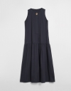 Sleeveless Maxi Dress with Pleated Detail