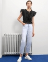 Ruffled Trims Tied Top