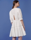 Broderie Lace Dress with Back Cutout Detail