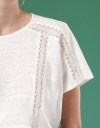 Lace Insert Top with Sleeves