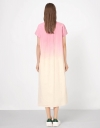 Dip Dye Tunic with Button Front