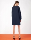V Neck Dress With Long Sleeves