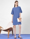 Short Sleeve Dress with Button Detail