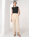 Front Pleat Tapered Pants