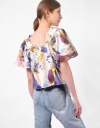Square Neck Top with Short Sleeves