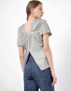 Short Sleeve Top with Pleat Detail