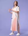 Art Print Maxi Dress with Sleeves