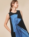 Front Abstract Print Short Sleeve Dress