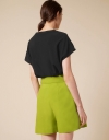 Boat Neck Textured Boxy Top