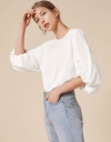 Puff Sleeve Top with Tied Back