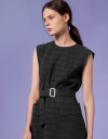 Textured Belted Dress with Patch Pockets